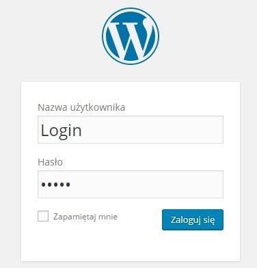logowanie wordpress 2