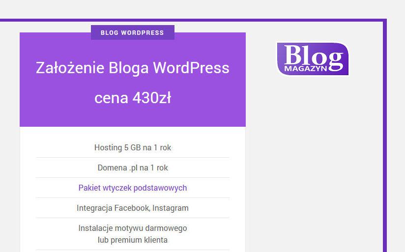 zalozenie bloga wordpress